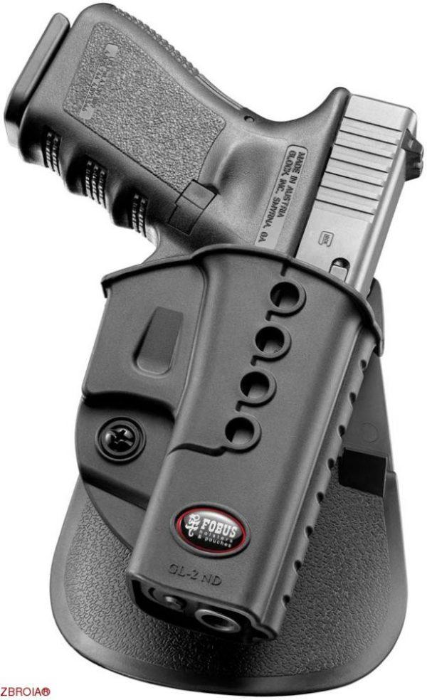 Кобура Fobus для Glock 17/19 поворотная с креплением на ремень