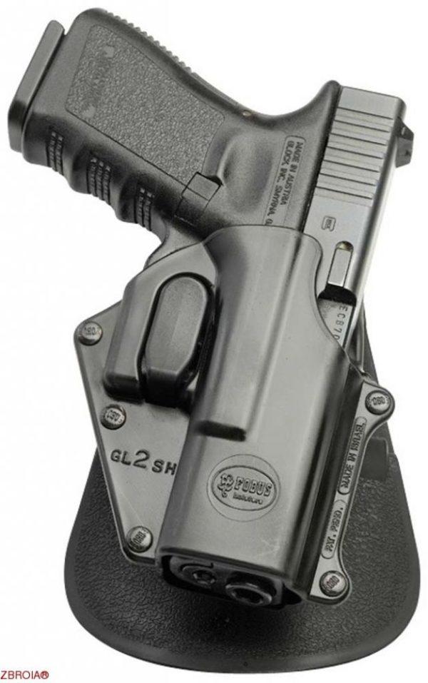 Кобура Fobus для Glock 17/19 с креплением на ремень/замок фиксации скобы